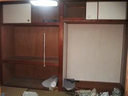 福岡県春日市の内装(リビング)リフォーム施工前。内装(リビング)リフォームのビフォア―写真。
