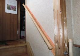 福岡県春日市N様邸バリアフリー・介護リフォーム施工例。階段の手すり工事。