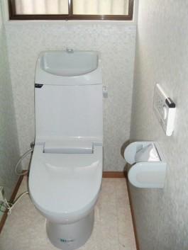 福岡県春日市の水まわり(トイレ)リフォーム施工例。トイレリフォームのビフォアー写真。