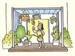 花を飾ったり、庭仕事の基地としてガーデニングを楽しむ♪