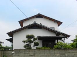 福岡県春日市外壁塗装(壁の塗替え)リフォーム工事の例。塗替えのアフター写真。