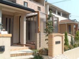 福岡県春日市のガーデンルーム・サンルーム工事。庭のリフォーム工事の施工例です。