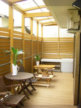 福岡県春日市のガーデンルーム・サンルーム工事。庭のリフォーム施工例です。