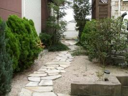 福岡県太宰府市のお庭のガーデン工事。可愛くおしゃれなお庭のリフォーム施工例です。