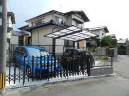 福岡県春日市の外構リフォーム工事。解放感と駐車スペースが増した外構リフォーム。