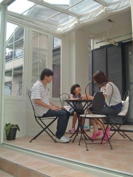 福岡県福岡市早良区のガーデンルーム・サンルーム工事。庭のリフォーム施工例です。