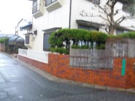 福岡県福岡市南区の車庫・駐車場・カーポート・カーゲート・伸縮門扉・屋根工事前。