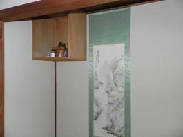 福岡県春日市の和室・床の間壁塗替えリフォーム工事。室内・和室壁塗り壁リフォーム。