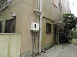 福岡県福岡市中央区の外壁塗装塗り替えリフォーム工事前。光触媒ヒカリショクバイ工事前。