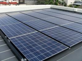 福岡県糸島市T様邸の太陽光パネル設置工事工程。太陽光パネルの取付が完了しました!