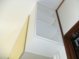 キッチン横に戸棚を作り、余ったスペースを上手に活用♪