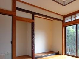 和室の床の間も美しくリフォームしました。