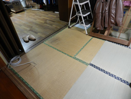 手入れが大変な畳をフローリングにリフォーム。