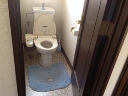 トイレの床_before