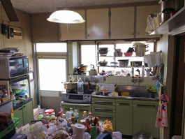 キッチンとリビングをリフォームしました